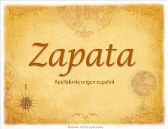 Origen y significado de Zapata
