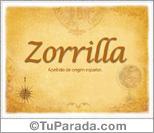 Origen y significado de Zorrilla