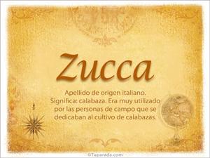 Origen y significado de Zucca