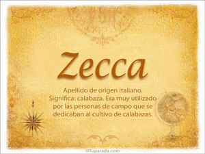 Origen y significado de Zecca