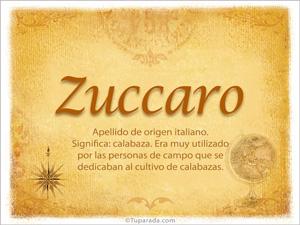 Origen y significado de Zuccaro