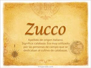 Origen y significado de Zucco