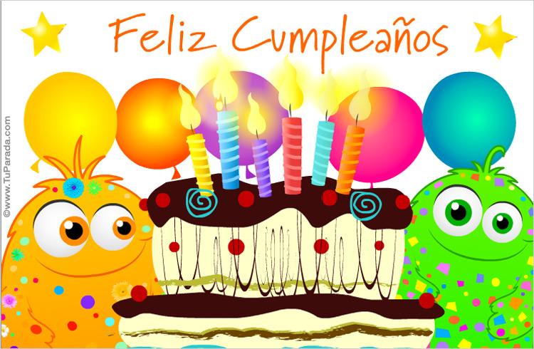 Feliz Aniversario En Espanol: Tarjeta De Feliz Cumple De Locos