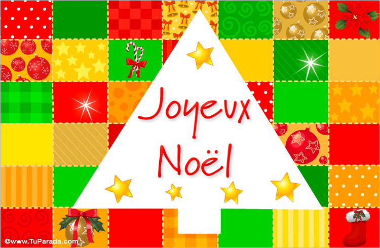 Tarjeta - Tarjeta de Navidad en francés