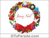Postal navideña en francés