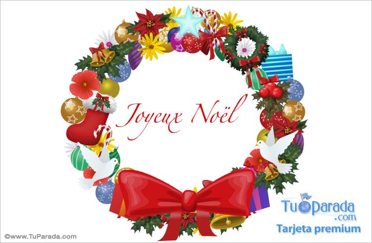 Postal Navideña En Francés Navidad En Francés Tarjetas