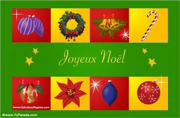 Tarjetas, postales: Navidad en francés