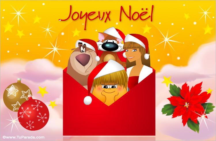 Tarjeta De Felicidades En Francés Navidad En Francés Tarjetas