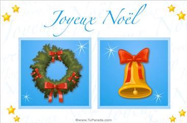 Tarjeta en francés de feliz Navidad