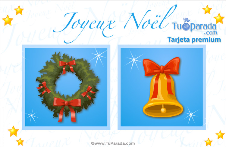 Tarjeta - Tarjeta en francés de feliz Navidad