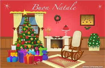 Tarjetas, postales: Navidad en italiano