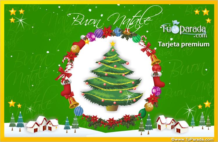 Tarjeta - Tarjeta de felicidades en italiano