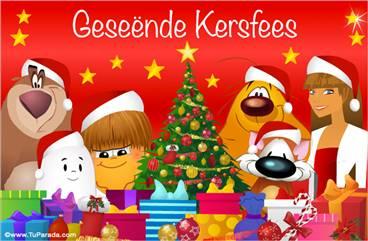 Ecard de Navidad en idioma africano