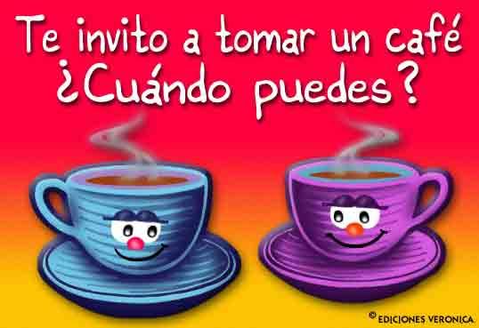 Te Invito Un Café De Invitación Tasitas De Café Propuesta
