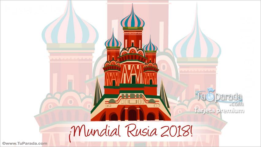 Tarjeta - Mundial de fútbol Rusia 2018