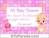 Tarjeta de Baby Shower rosa