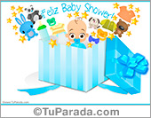 Baby Shower para varón en caja sorpresa