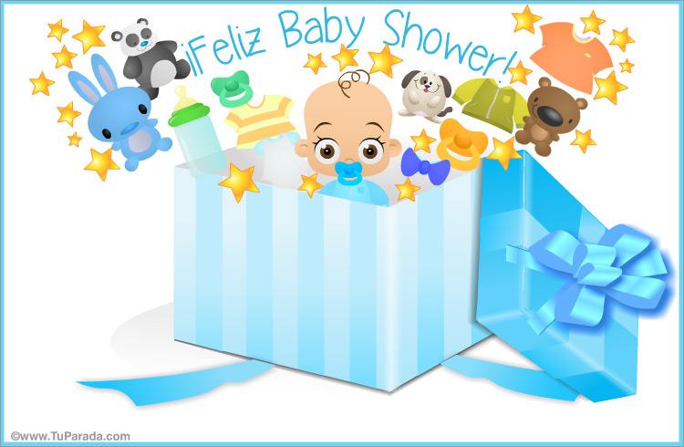 Baby Shower Para Varón En Caja Sorpresa Baby Shower Tarjetas