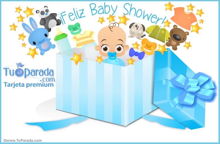 Baby Shower Para Varón En Caja Sorpresa Baby Shower