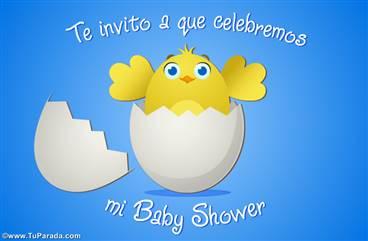 Ecard de Baby Shower para niño