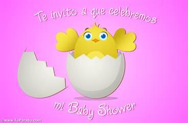 Ecard de Baby Shower de niña