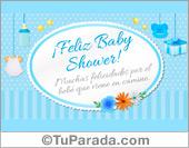 Tarjetas, postales: Baby Shower