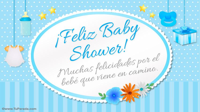 Tarjeta De Feliz Baby Shower Celeste Baby Shower Tarjetas