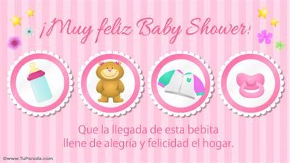 Muy Feliz Baby Shower rosa