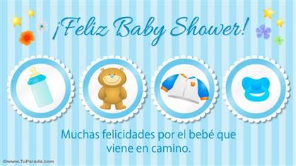 Muy Feliz Baby Shower celeste