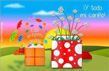 Postal virtual de regalos con sorpresas