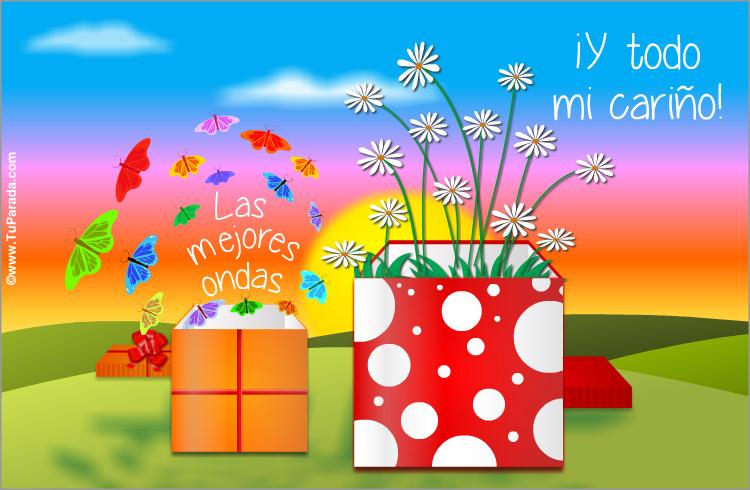 Tarjeta - Postal virtual de regalos con sorpresas