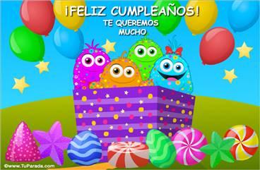 Caja de sorpresas para un feliz cumpleaños