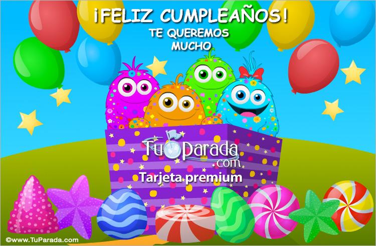 Tarjeta - Caja de sorpresas para un feliz cumpleaños