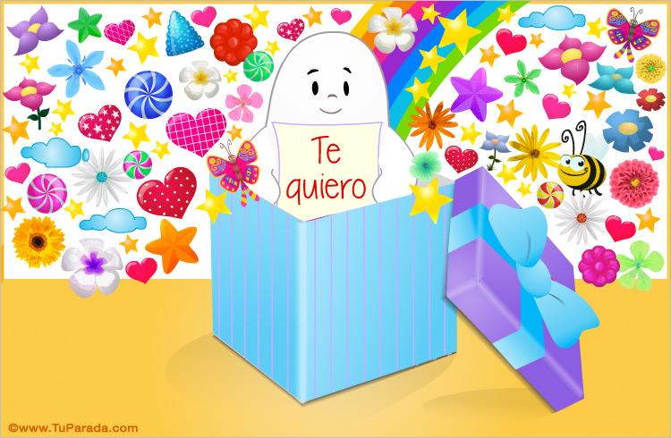 Tarjeta - Caja de regalo con mensaje