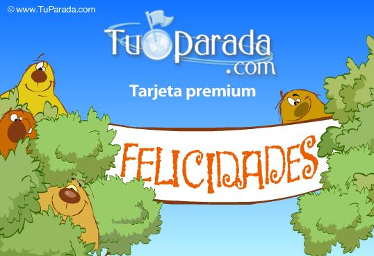 Tarjeta - Cumpleaños con cartel de sorpresa