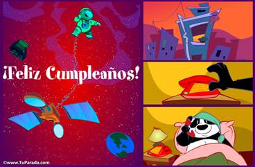 Feliz cumpleaños por satélite.