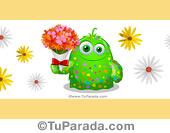 Imagen de portada con personaje y flores