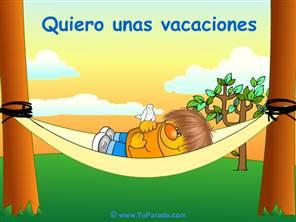 Imagen quiero unas vacaciones