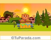 Imagen en paisaje soleado