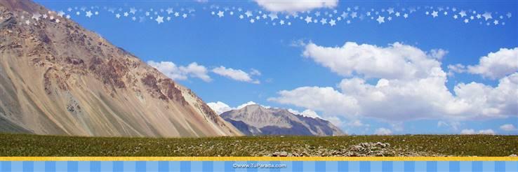 Foto de montañas y cielo