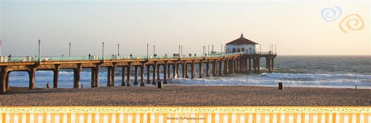 Foto de muelle y playa