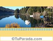 Foto de lago y reflejo
