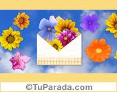 Imagen de cielo y flores
