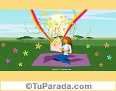Imagen con personaje y arco iris