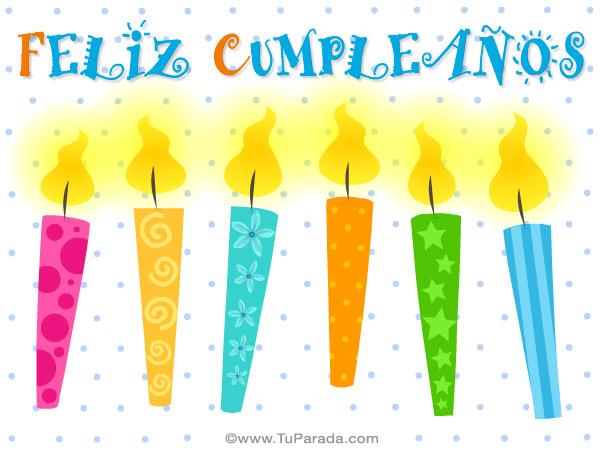 Tarjeta - Imagen de velas de cumpleaños