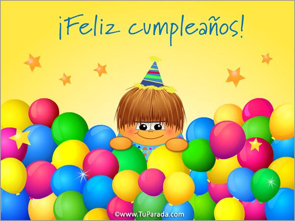 Imagen de cumpleaños con globos