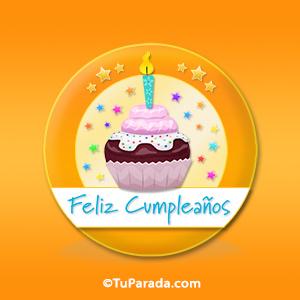 Cupcake de cumpleaños