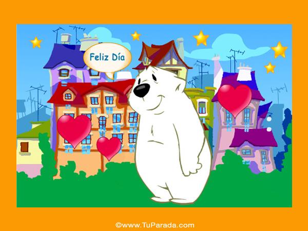 Tarjeta - Imagen con oso blanco