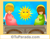 Imagen de angelitos y sol