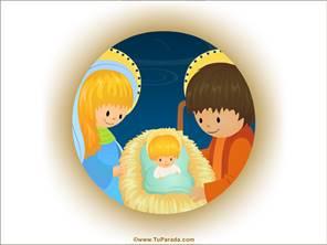 Imagen de María, Jesús y José
